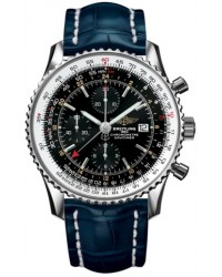 Breitling Navitimer World  Automatic Men's Watch, Stainless Steel, Black Dial, A2432212.B726.747P