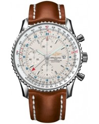 Breitling Navitimer World  Automatic Men's Watch, Stainless Steel, White Dial, A2432212.G571.439X