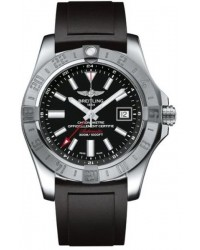 Breitling Avenger II GMT  Automatic Men's Watch, Stainless Steel, Black Dial, A3239011.BC35.131S