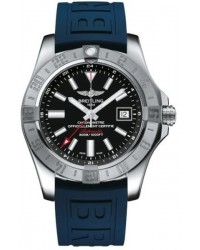 Breitling Avenger II GMT  Automatic Men's Watch, Stainless Steel, Black Dial, A3239011.BC35.158S