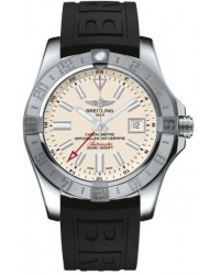Breitling Avenger II GMT  Automatic Men's Watch, Stainless Steel, Silver Dial, A3239011.G778.152S