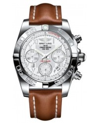 Breitling Chronomat 41  Automatic Men's Watch, Stainless Steel, White Dial, AB014012.A747.426X