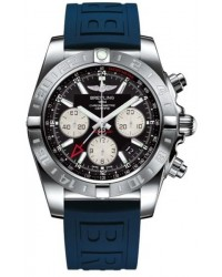 Breitling Chronomat 44 GMT  Automatic Men's Watch, Stainless Steel, Black Dial, AB042011.BB56.157S