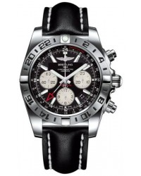 Breitling Chronomat 44 GMT  Automatic Men's Watch, Stainless Steel, Black Dial, AB0420B9.BB56.436X