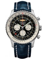 Breitling Navitimer GMT  Automatic Men's Watch, Stainless Steel, Black Dial, AB044121.BD24.746P