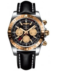 Breitling Chronomat 44 GMT  Automatic Men's Watch, Stainless Steel & Rose Gold, Black Dial, CB042012.BB86.435X
