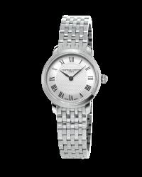 Frederique Constant Slimline  Quartz Women's Watch, Stainless Steel, Silver Dial, FC-200MCS6B