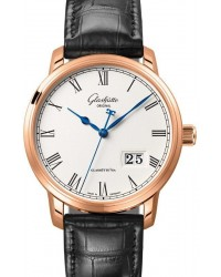 Glashutte Original Senator  Automatic Men's Watch, 18K Rose Gold, Silver Dial, 100-03-32-45-04
