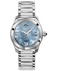 Glashutte Original Lady Serenade  Automatic Women's Watch, Stainless Steel, Mother Of Pearl & Diamonds Dial, 1-39-22-11-02-34