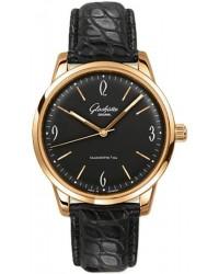 Glashutte Original Sixties  Automatic Men's Watch, 18K Rose Gold, Black Dial, 1-39-52-02-01-04