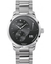 Glashutte Original PanoReserve  Automatic Men's Watch, Stainless Steel, Black Dial, 1-65-01-23-12-24