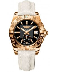 Breitling Galactic 36 Automatic  Automatic Unisex Watch, 18K Rose Gold, Black Dial, H3733012.BA54.262X