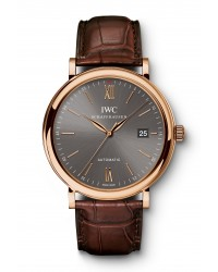 IWC Portofino  Automatic Men's Watch, 18K Rose Gold, Grey Dial, IW356511