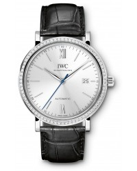IWC Portofino  Automatic Men's Watch, 18K White Gold, Silver Dial, IW356514