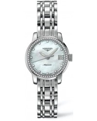 Longines Saint-Limer  Automatic Women's Watch, Stainless Steel, Mother Of Pearl & Diamonds Dial, L2.263.0.87.6