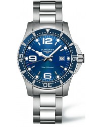 Longines HydroConquest  Quartz Men's Watch, Stainless Steel, Blue Dial, L3.640.4.96.6