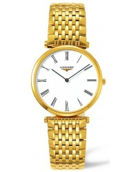 Longines La Grande Classique  Quartz Men's Watch, Gold Tone, White Dial, L4.709.2.11.8