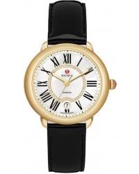 Michele Serein  Quartz Women's Watch, 18K Yellow Gold, Mother Of Pearl & Diamonds Dial, MWW21B000019