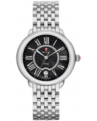 Michele Serein  Quartz Women's Watch, Stainless Steel, Black & Diamonds Dial, MWW21B000026