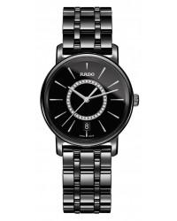 Rado Diamaster  Quartz Unisex Watch, Ceramic, Black & Diamonds Dial, R14063737