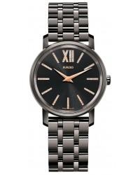 Rado Diamaster  Quartz Women's Watch, Ceramic, Black & Diamonds Dial, R14064707