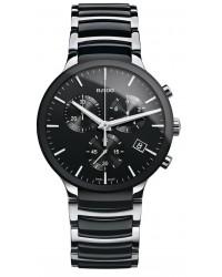 Rado Centrix  Chronograph Quartz Men's Watch, Ceramic, Black Dial, R30130152