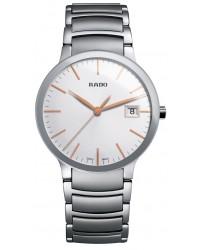 Rado Centrix  Quartz Unisex Watch, Stainless Steel, Silver Dial, R30927123