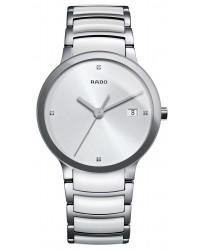 Rado Centrix  Quartz Unisex Watch, Ceramic, Silver Dial, R30927722