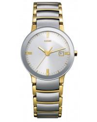 Rado Centrix  Quartz Unisex Watch, Stainless Steel, Silver Dial, R30932103