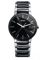 Rado Centrix  Quartz Unisex Watch, Stainless Steel, Black Dial, R30934162