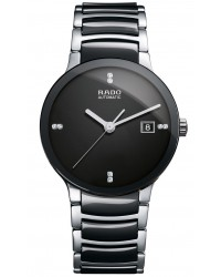 Rado Centrix  Automatic Unisex Watch, PVD Black Steel, Black & Diamonds Dial, R30941702