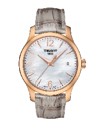 Tissot T-Classic  Quartz Women's Watch, Steel & 18K Rose Gold, Mother Of Pearl Dial, T063.210.37.117.00