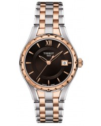 Tissot T-Trend  Quartz Women's Watch, Steel & Gold Tone, Brown Dial, T072.210.22.298.00