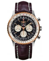 Breitling Navitimer 01  Automatic Men's Watch, Stainless Steel & Rose Gold, Black Dial, UB012721.BE18.750P