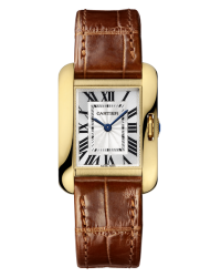 Cartier Tank Anglaise  Quartz Women's Watch, 18K Yellow Gold, Silver Dial, W5310028