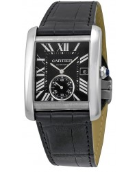 Cartier Tank MC  Automatic Men's Watch, Stainless Steel, Black Dial, W5330004