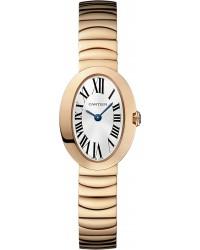Cartier Baignoire  Quartz Women's Watch, 18K Rose Gold, Silver Dial, W8000015