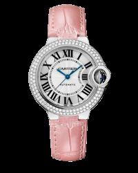 Cartier Ballon Bleu  Automatic Women's Watch, 18K White Gold, Silver Dial, WE902037