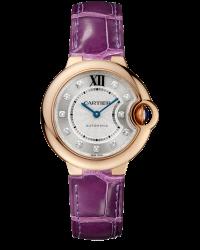 Cartier Ballon Bleu  Automatic Women's Watch, 18K Rose Gold, Silver Dial, WE902040