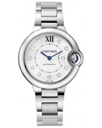 Cartier Ballon Bleu  Automatic Women's Watch, Stainless Steel, Silver Dial, WE902074
