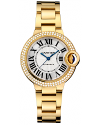 Cartier Ballon Bleu  Automatic Women's Watch, 18K Yellow Gold, Silver Dial, WJBB0002
