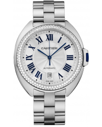 Cartier Cle De Cartier  Automatic Women's Watch, 18K White Gold, Silver Dial, WJCL0008
