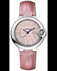 Cartier Ballon Bleu  Automatic Women's Watch, Stainless Steel, Pink Dial, WSBB0002