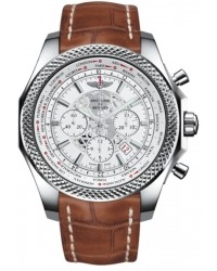 Breitling Bentley B05 Unitime  Chronograph Automatic Men's Watch, Stainless Steel, White Dial, AB0521U0.A755.754P
