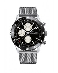 Breitling Chronoliner  Automatic Men's Watch, Stainless Steel, Black Dial, Y2431012.BE10.152A