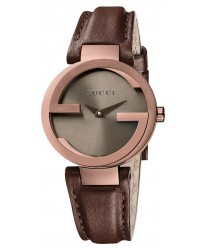 Gucci Interlocking  Quartz Women's Watch, PVD, Brown Dial, YA133504