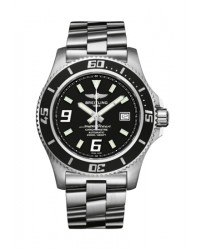 Breitling Superocean 44  Automatic Men's Watch, Stainless Steel, Black Dial, A1739102.BA77.134A