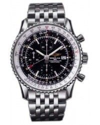 Breitling Navitimer World  Chronograph Automatic Men's Watch, Stainless Steel, Black Dial, A2432212.B726.443A