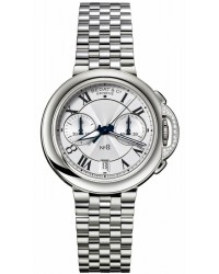 Bedat No 8  Chronograph Automatic Women's Watch, Stainless Steel, Silver Dial, 830.021.100