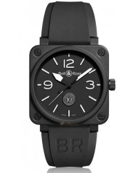 Bell & Ross Aviation BR01  Automatic Men's Watch, Ceramic, Black Dial, BR0192-10TH-CE